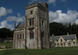Fonthill Old Abbey with modern house