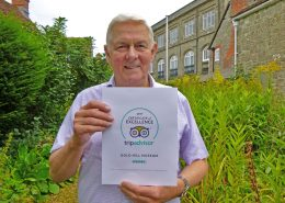 Chairman David Silverside with Trip Advisor Certficate of Excellence