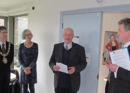 The Mayor & Mrs Lewer, Ray Simpson and Roger Guttridge