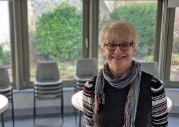 Gold Hill Museum Chairperson Elaine Barratt in the Garden Room