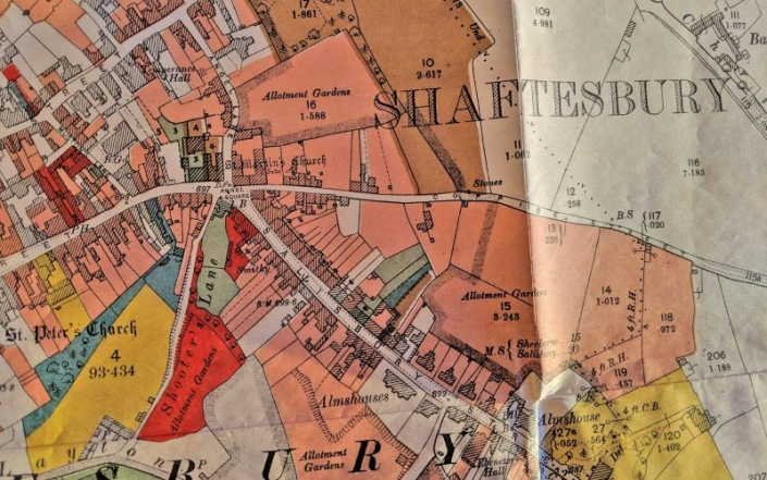 Map of Shaftesbury properties for sale in 1919