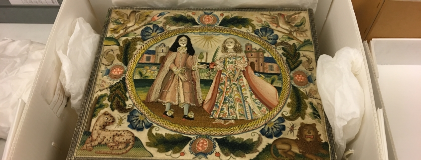 Charles II Needlework Decorative Box