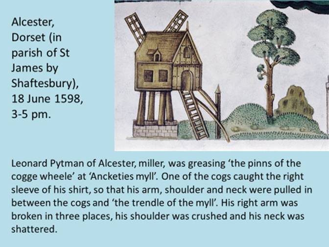 Alcester Mill accident 1598
