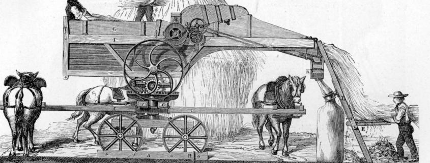 Horse-powered Threshing Machine
