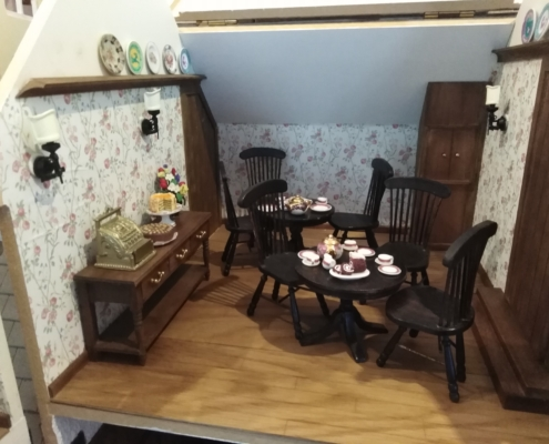 Miniature Tea Room by Tryphena Orchard