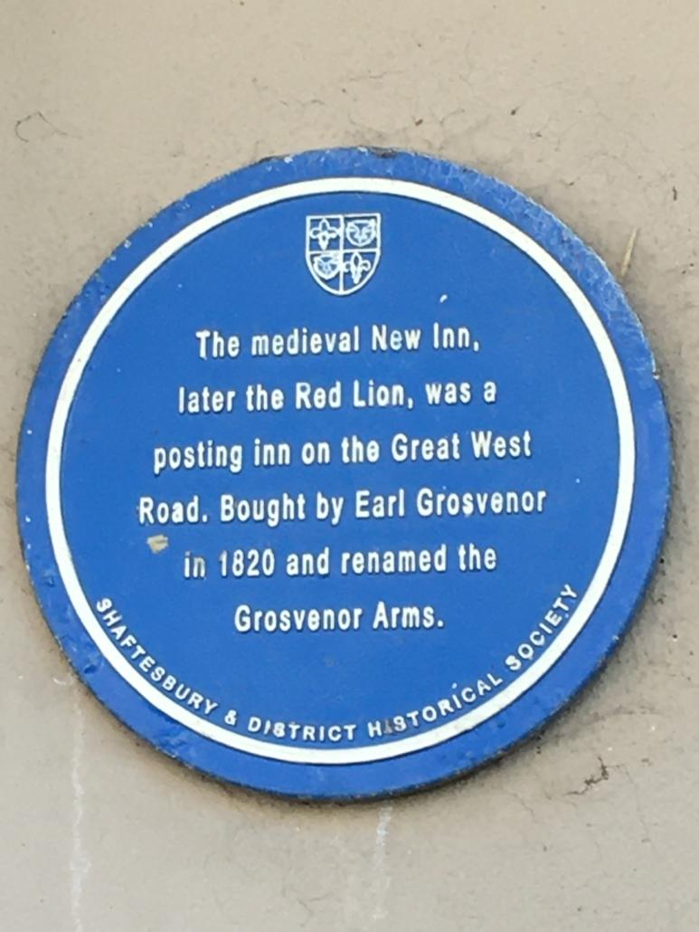 Grosvenor Arms Blue Plaque (IK)