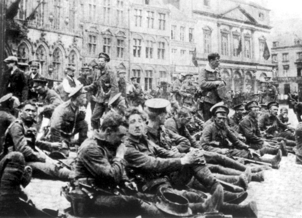 BEF 'Old Contemptibles' in Mons, 22 August 1914