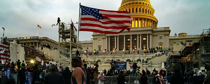 Storming of the US Capitol 06 January 2021 (photo by Tyler Merbler)