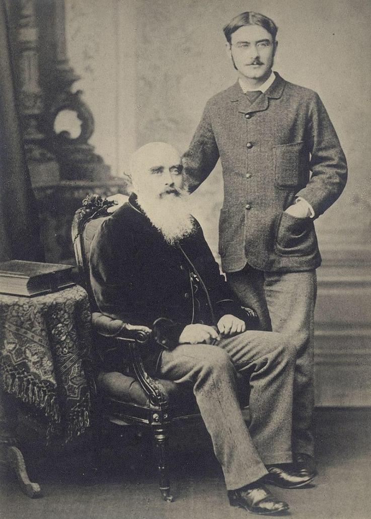 John Lockwood Kipling and Rudyard Kipling, c.1890