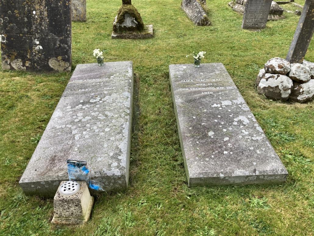 Kipling Graves in the churchyard of St John the Baptist Tisbury