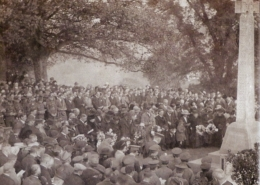 Unveiling of Park Walk War Memorial